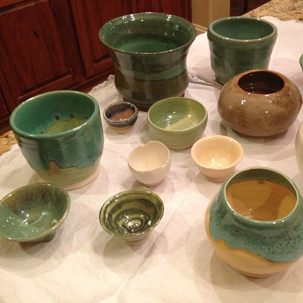 Pottery Glazing